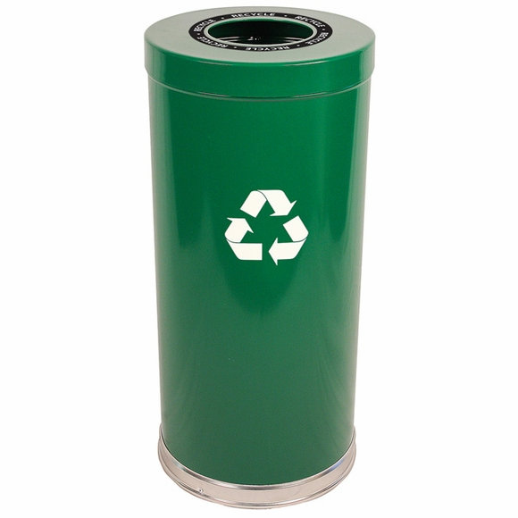 Witt Industries 15RTGN-1H Green Recycling Container