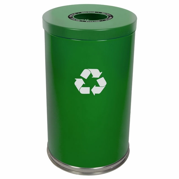 Witt Industries 18RTGN-1H Green Recycling Container