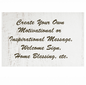 Wood Home Box Sign With Custom Saying, Inspirational Message, or Blessing