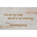 You Are My Today and All My Tomorrows Personalized Wall Art