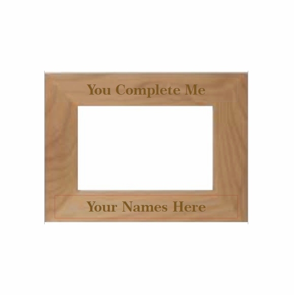 You Complete Me Personalized Picture Frame