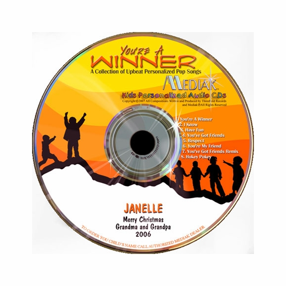 You're A Winner Personalized Pop Songs CD