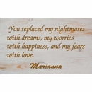 You Replaced My Nightmares with Dreams Personalized Wall Art