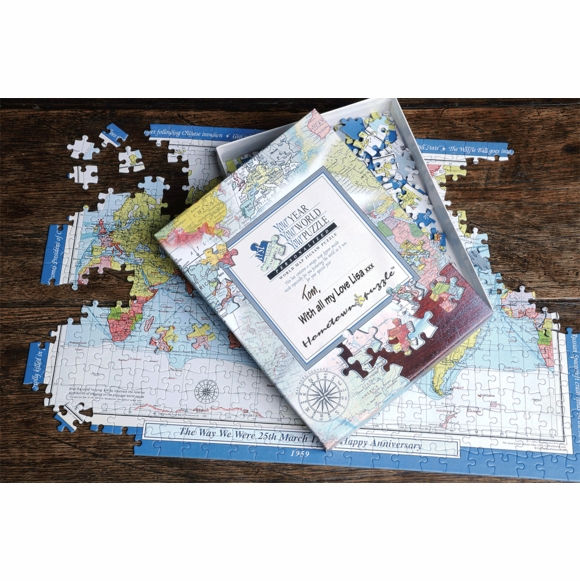 Your Year Your World personalized jigsaw puzzle