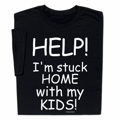Donate with purchase Coronavirus Help Stuck Home with Kids T-shirt