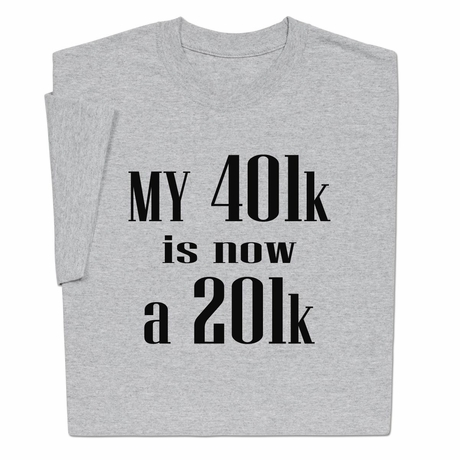 Donate with purchase Coronavirus Funny My 401k Now 201k T-shirt