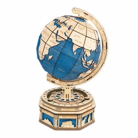 Deluxe Mechanical Globe Wooden Puzzle Kit