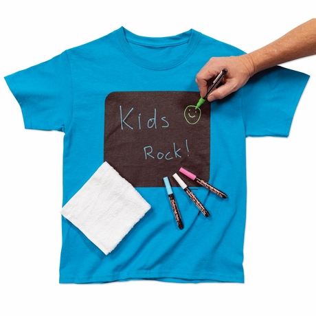 Home School Kids Activities Design your own erasable Chalkboard Youth Kids T-shirt Ages 3+