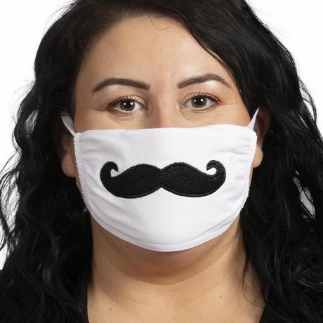 Funny Embroidered Mustache Mask