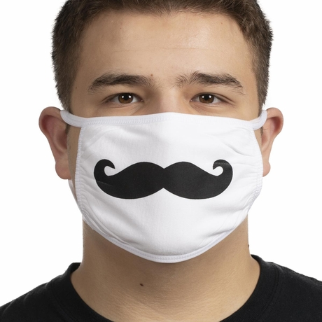 Funny Mustache Printed Mask