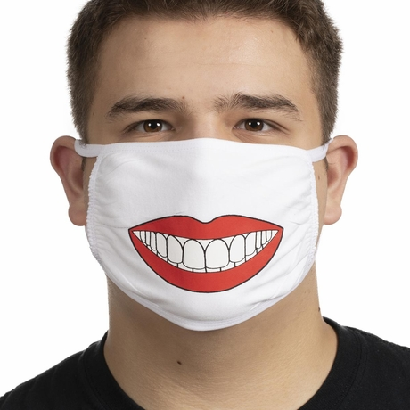 Funny Perfect Smile Printed Mask