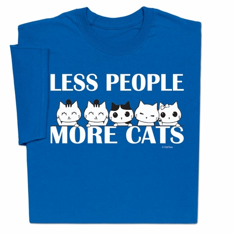 Less People More Cats T-Shirt