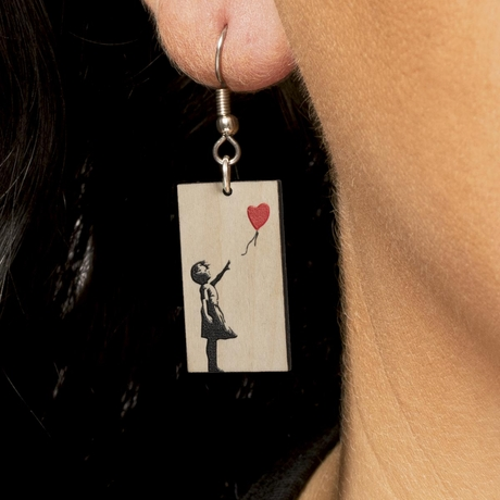 Mother's Day Love Banksy Earrings