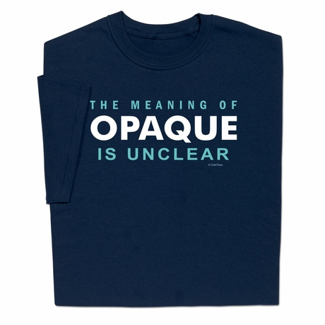 Meaning Of Opaque T-shirt