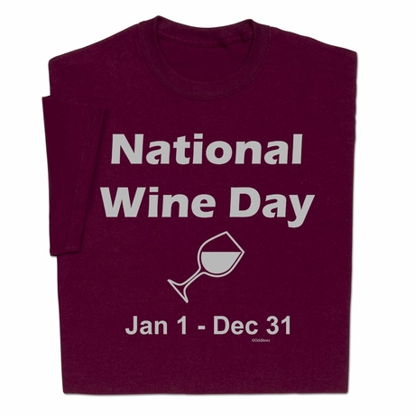 National Wine Day T-shirt