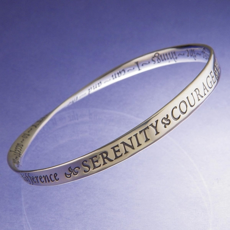 Mothers Day Graduation Serenity Prayer Infinity Mobius Bracelet