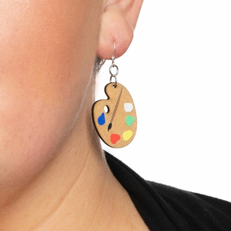 Painter Pallet Earrings