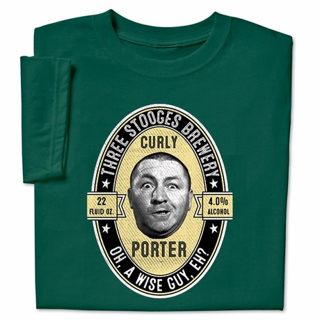 Three Stooges Curly Porter T-shirt