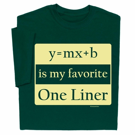 Y=MX+B is my favorite One Liner T-shirt