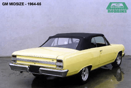 1964-1967 GM Mid Size Convertible Rear Glass Window