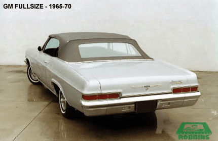 1965-1970 GM Full Size Convertible Rear Plastic Window