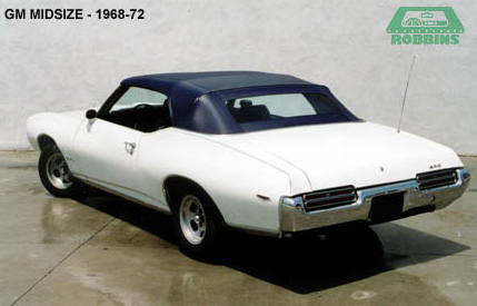 1968-1972 GM Mid Size Convertible Tops