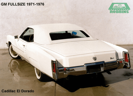 1971-1976 GM Full Size Convertible Rear Glass Window Without Defroster