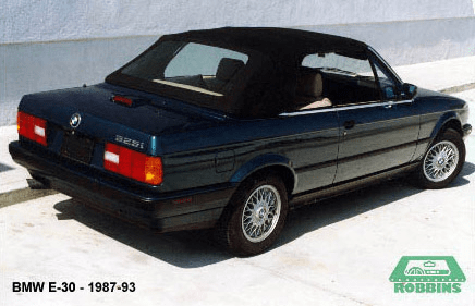 1987-1995 BMW 318i, 320i, 325i Convertible Top, With Plastic Window.