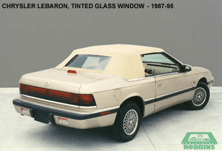 1987-1995 Chrysler Lebaron, Dodge 600 Rear Glass Window With Defroster