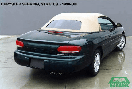 1996-2002 Chrysler Sebring Convertible Rear Plastic Window, With Vinyl Rear Curtain