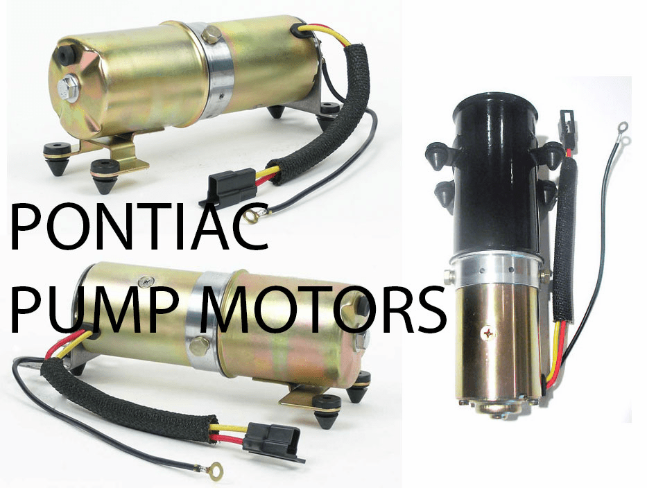 Pontiac Convertible Top Pump Motors