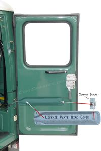Ambulance Door Inside Wire Cover - License Plate
