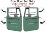 Door Belt Strips Wing Vent Style