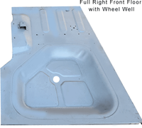 Front Passenger Floor Pan with Gas Well '74 to '78