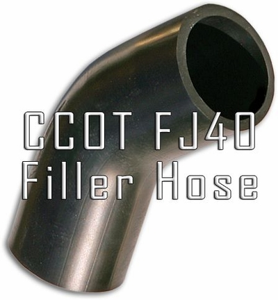 "Gas Tank Filler Neck  Hose (Only)  2"" - by CCOT"
