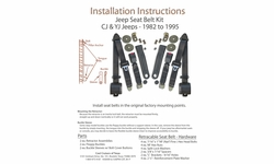 Jeep Seat Belt Installation Instructions