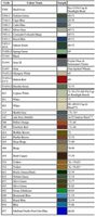 Color Codes - Color Names - Color Years