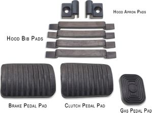 Pedal and Hood Pad Kit FJ & BJ Series - 1958 to 1978
