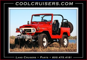 Red FJ40 - Poster