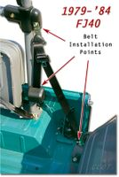 Seat Belt Installation - 1979 to 1984