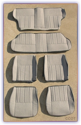 Seat Cover Set ~ Gray Cloth ~ FJ60/62 ~ All 3 Seats ~ by Oscar