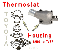 Thermostat Housing -  With Oil Cooler - 8/76-1/79 - TOYOTA