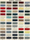 Toyota Color Code Book Sheets for 1968 to 1969 - Page 1