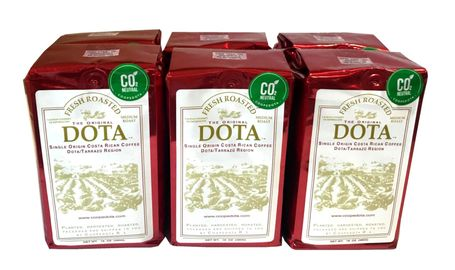Costa Rica Dota Fresh Coffee - Ground - Value Pak 6 bags