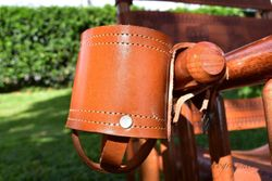 Costa Rica Leather Glass Holder