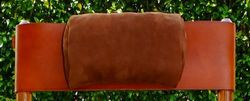 Head Cushion in Natural Leather for Costa Rican Rocking Chairs