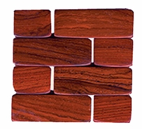Costa Rica Wood Coaster - Rosewood or Mixed Woods