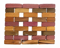 Costa Rica Wood Trivet - Rosewood or Mixed Woods