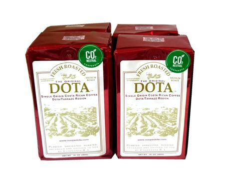 Costa Rica Dota Fresh Coffee - Ground - Value Pak 4 bags