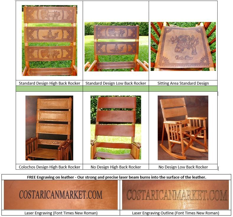 2 Rocking Chairs Natural Leather High Back Head Cushions 25 Off Gl Holders